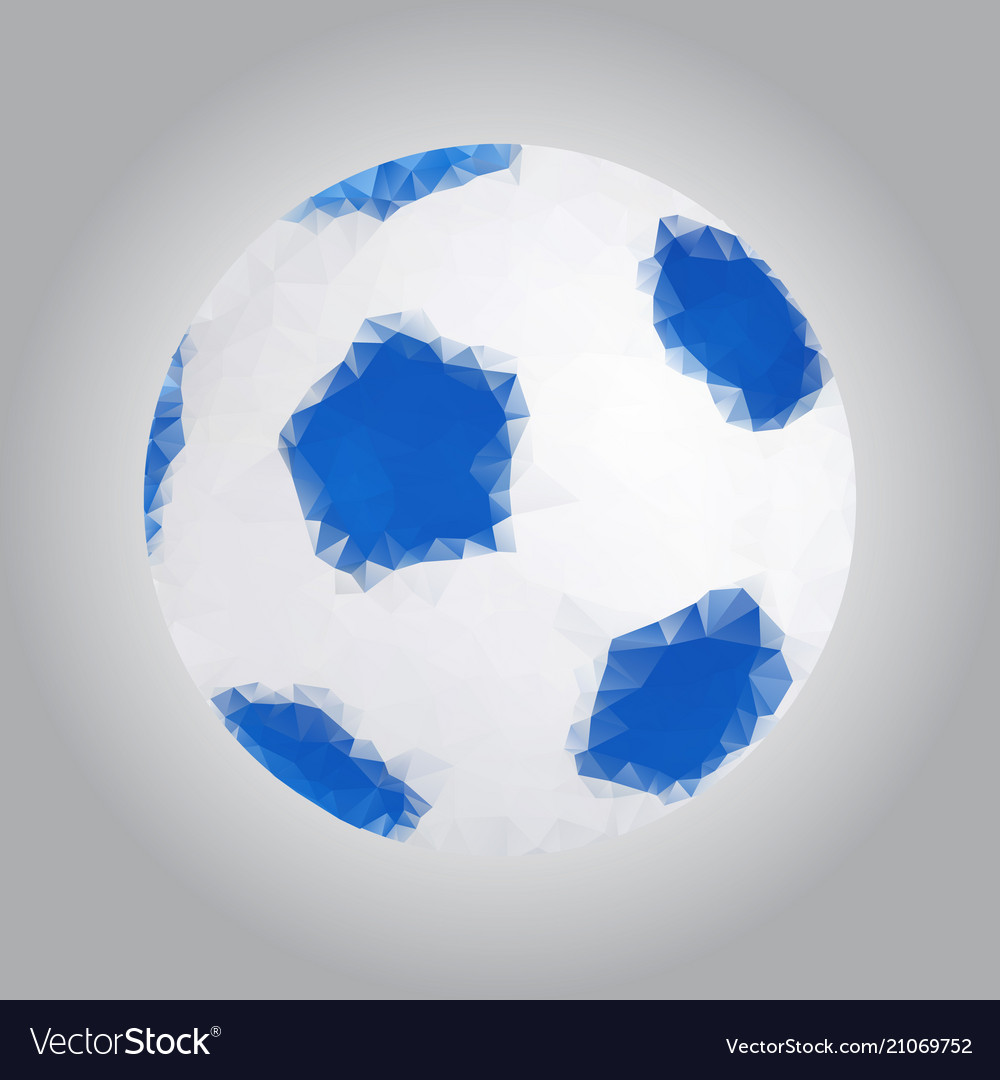 Image of a soccer ball in the triangulation style