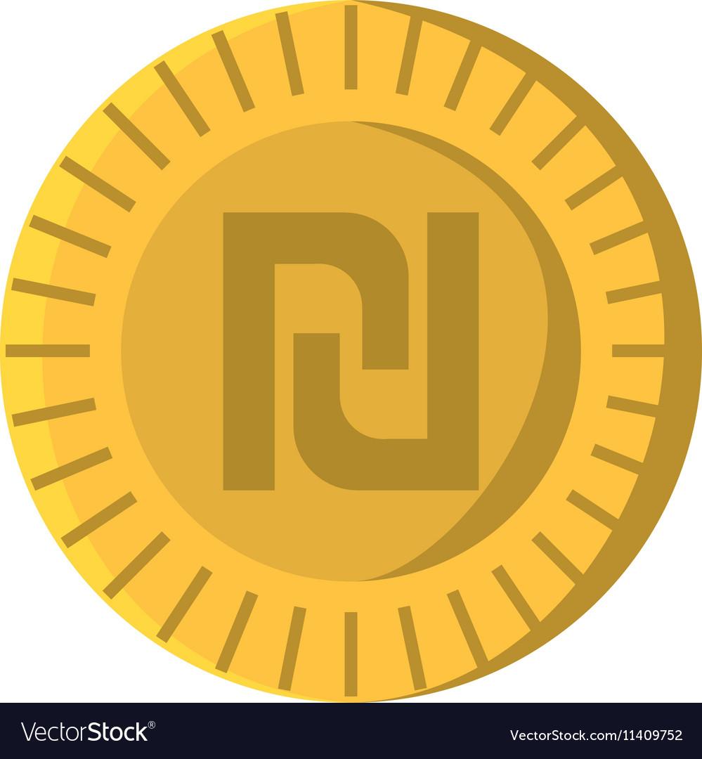 Israeli Shekel Isolated Icon Royalty Free Vector Image
