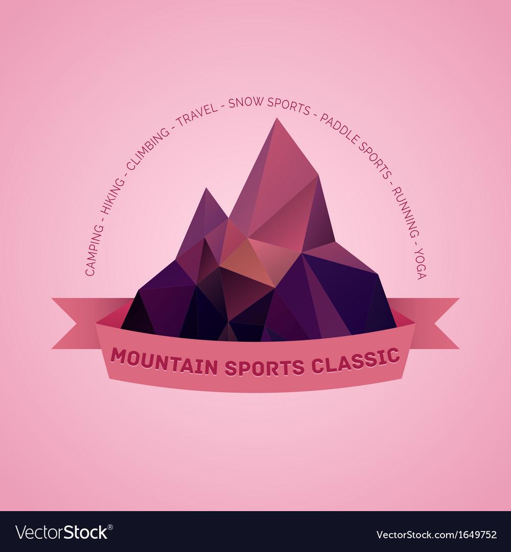 Mountain themed outdoors emblem logo