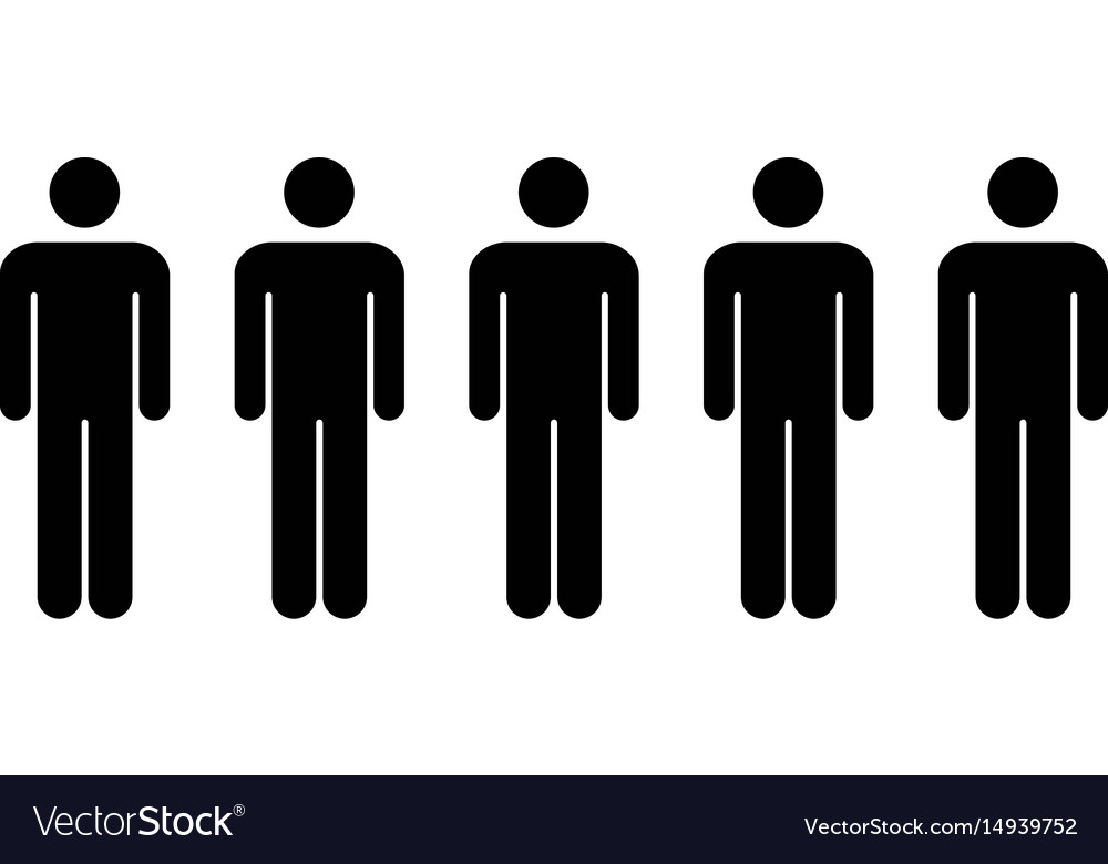 People Icon Group Of Men Team Symbol For Vector Image