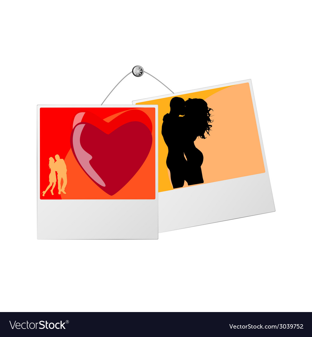 Photo frame with love couple Royalty Free Vector Image