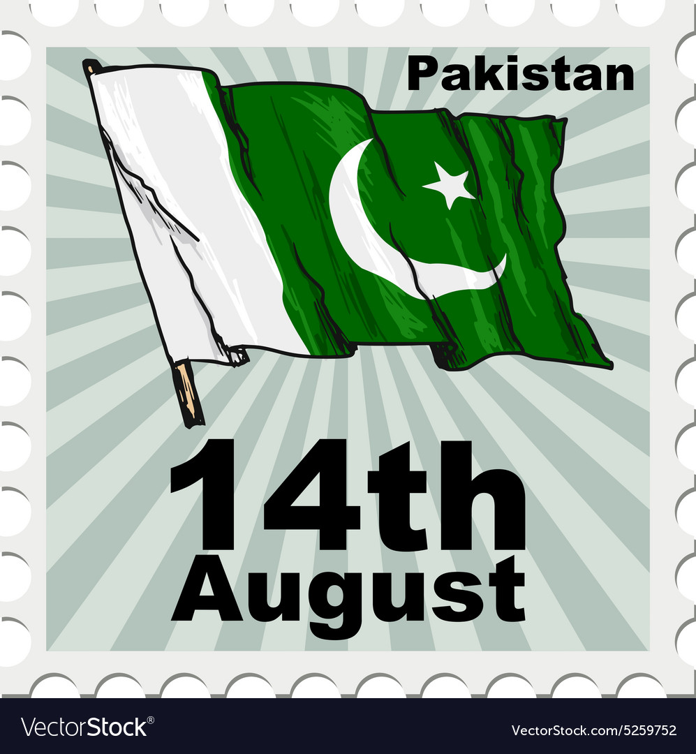 Post stamp of national day of Pakistan