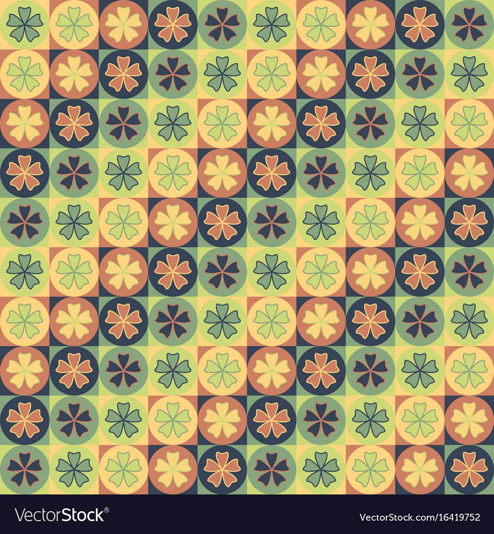 Seamless tile petal pattern vector image