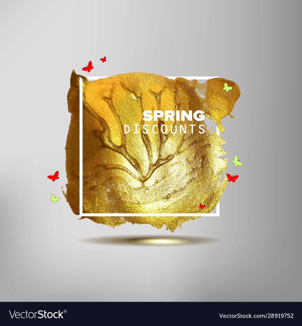 Spring sale off sign