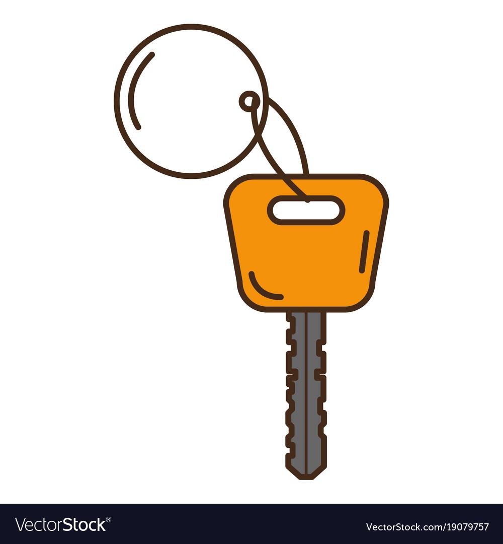 Car key isolated icon