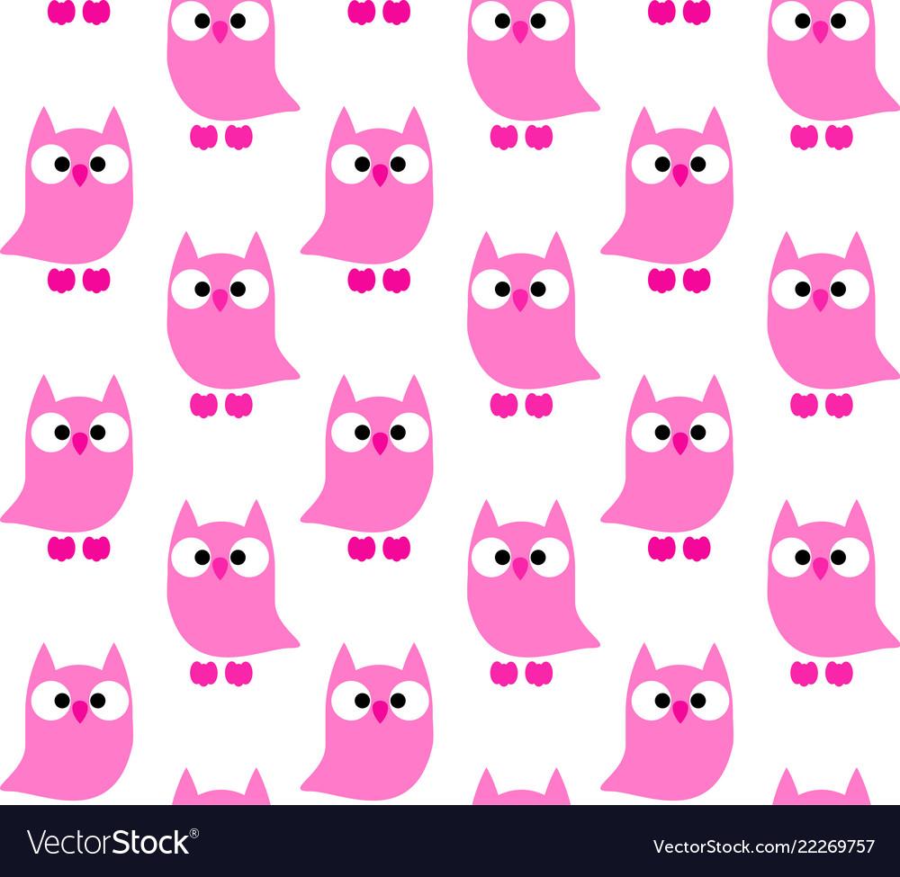 Cute owls pattern