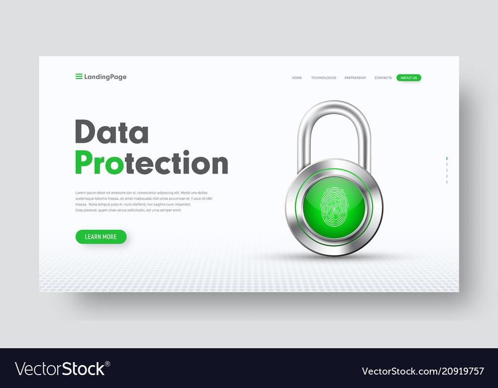 Design of site header for information protection
