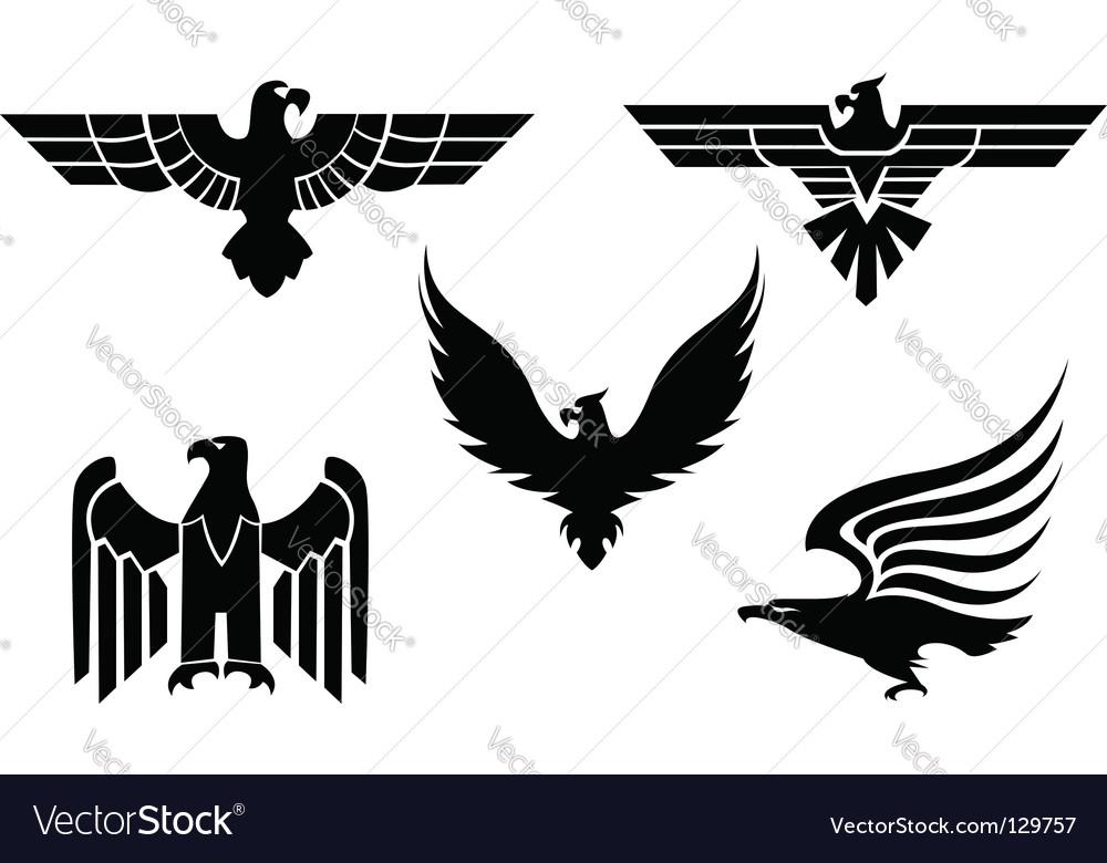 Eagle Symbols Royalty Free Vector Image Vectorstock