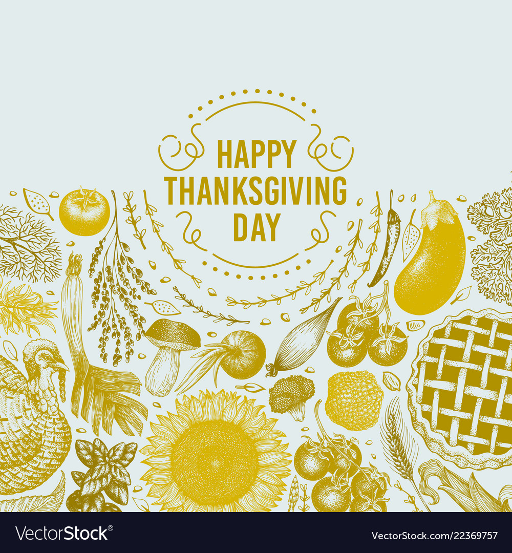 happy thanksgiving day design template royalty free vector