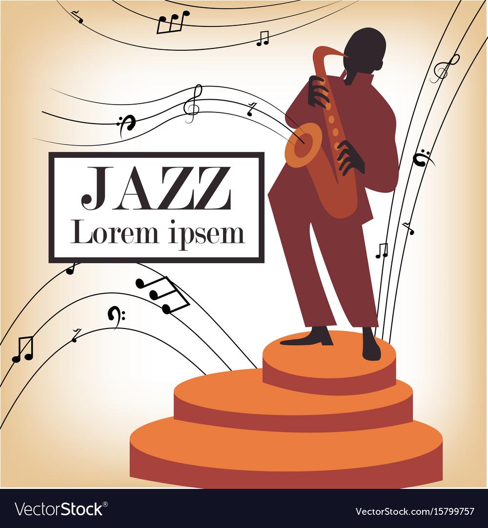 Jazz band with singer saxophone