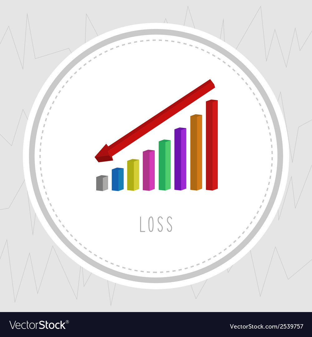 Loss chart2 vector image