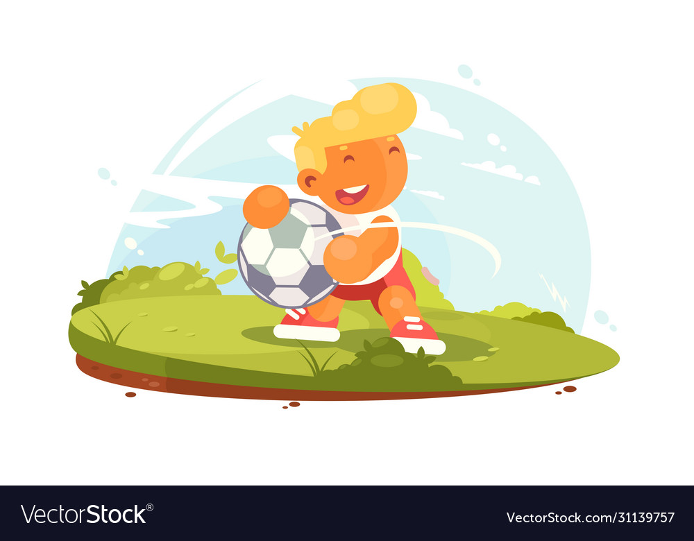 Soccer player playing on field