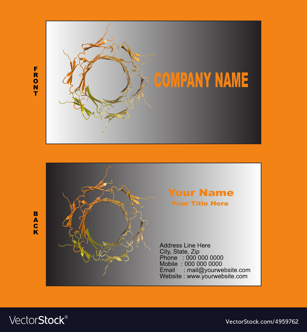 Biotech visiting card vector image