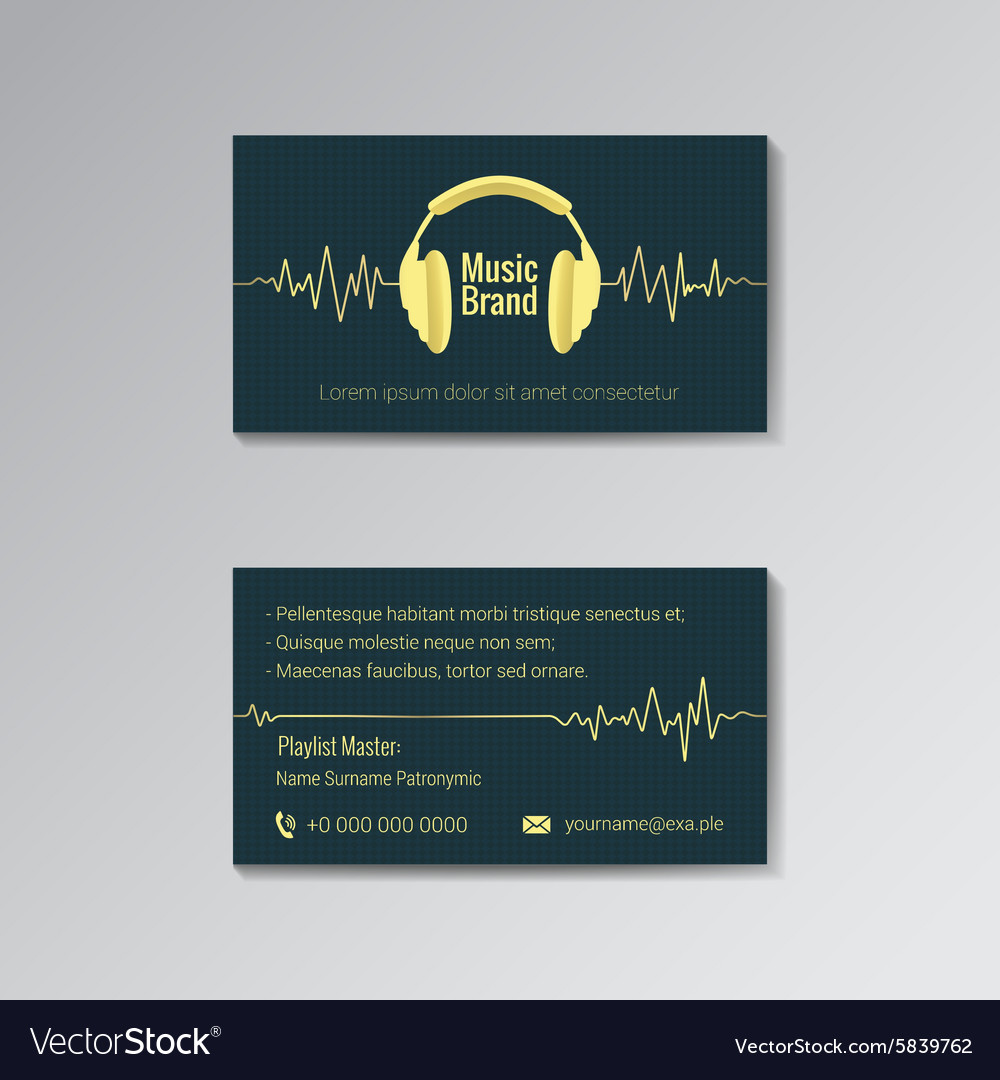 Business card template for music brand royalty free vector business card template for music brand vector image cheaphphosting Image collections