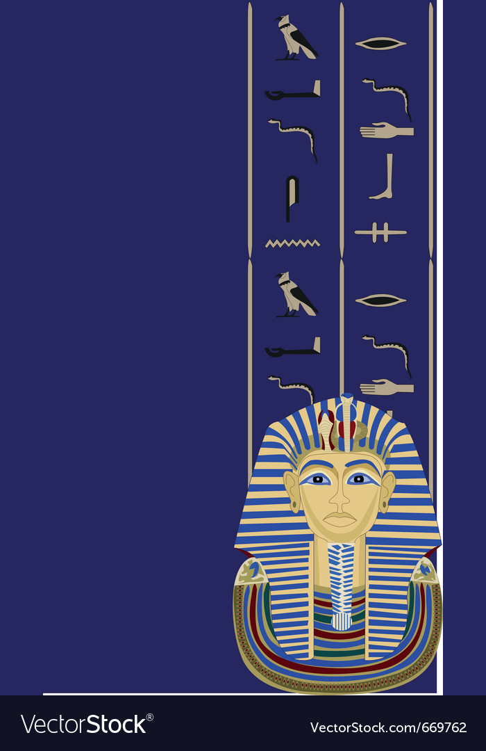 Egyptian elements vector image