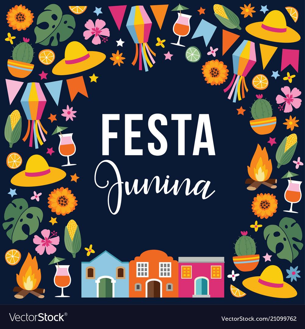 Festa junina brazilian june party greeting card