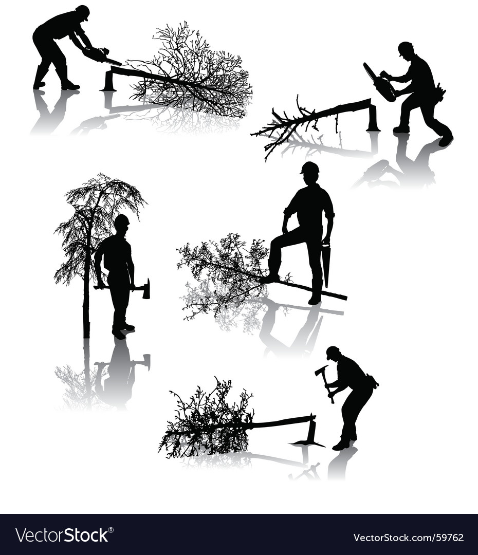 Forestry workers vector image