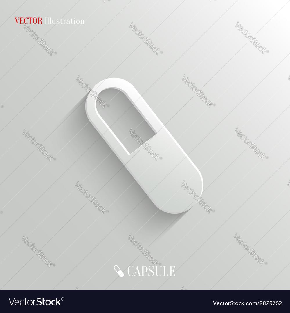 Medicine pill icon - white app button