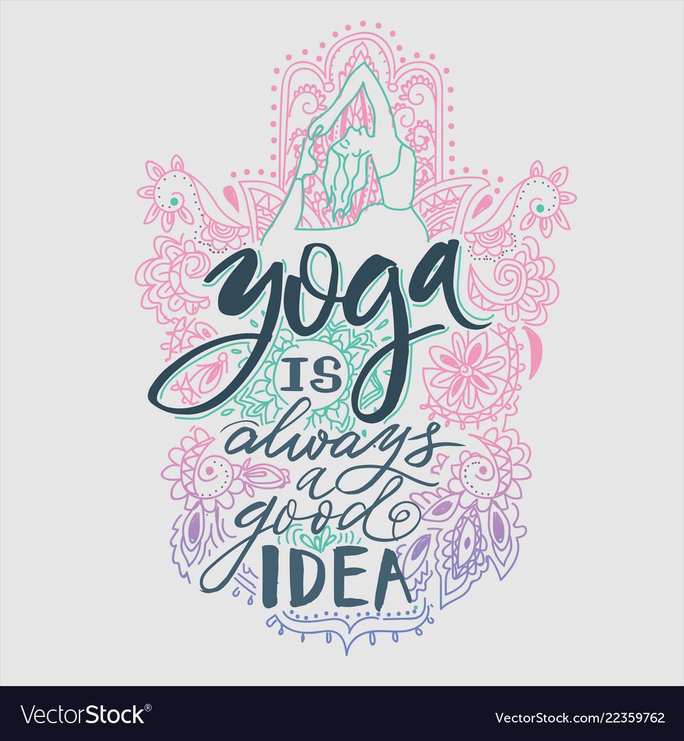 Poster yoga studio and meditation class logo