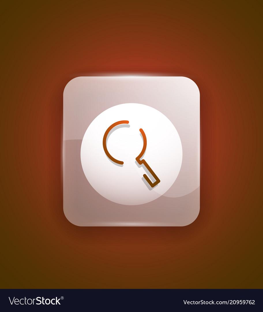 Search magnifyier web button magnify icon modern