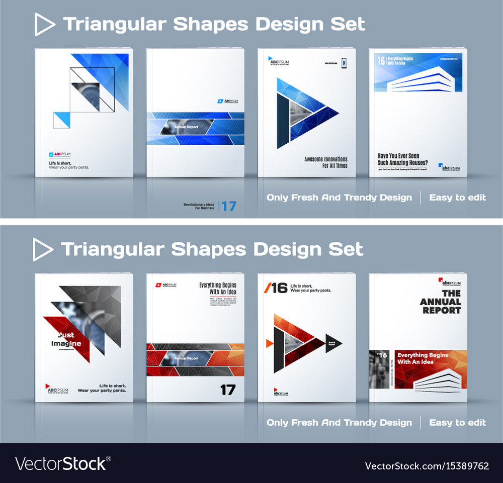 Set of abstract business design annual report vector image