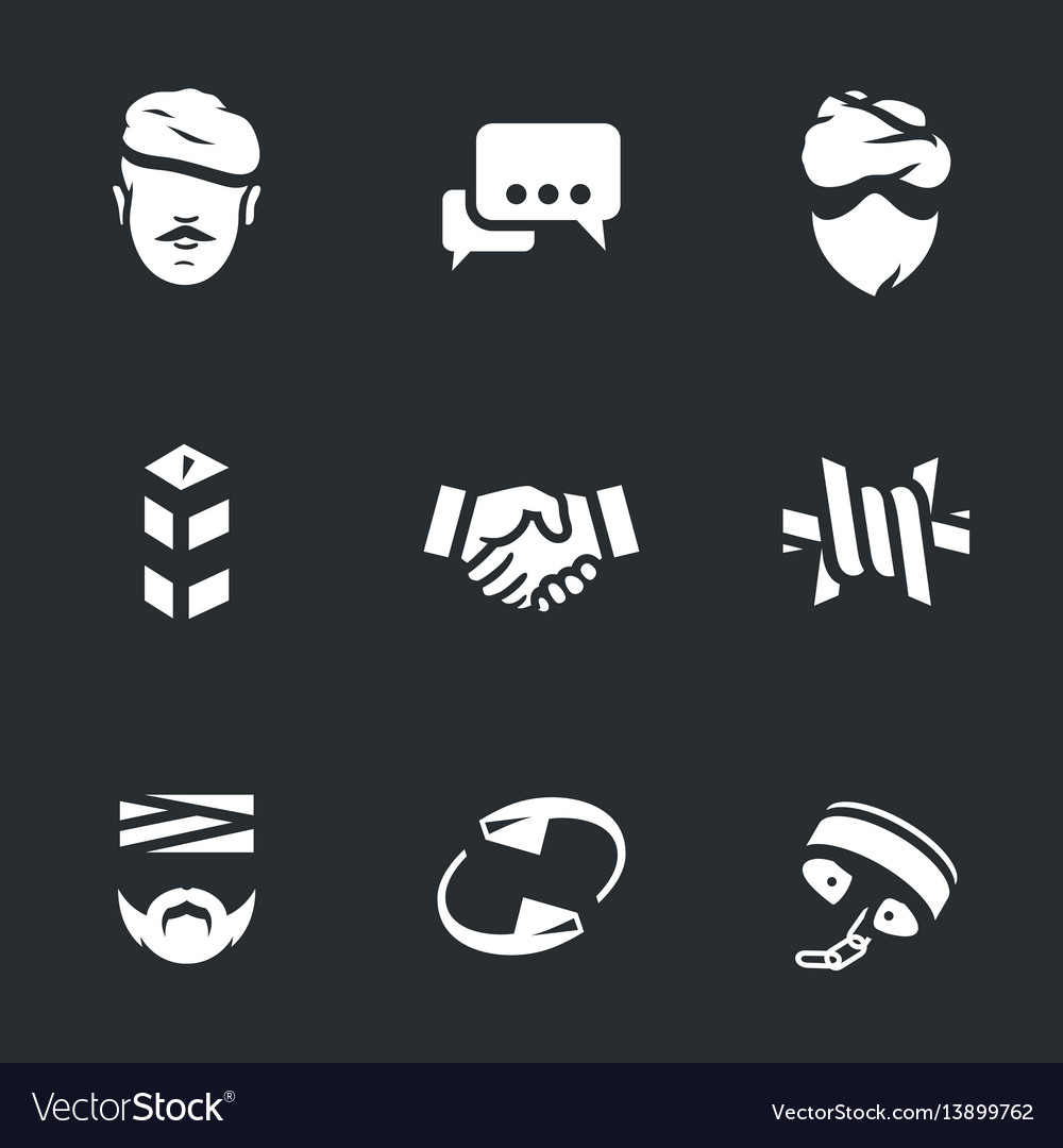 Set of fight against terrorism icons