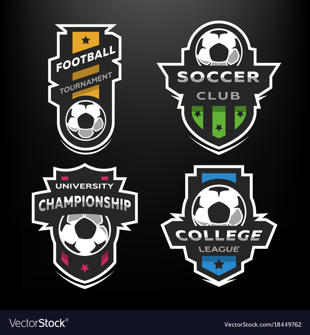 Set of soccer football logo emblem