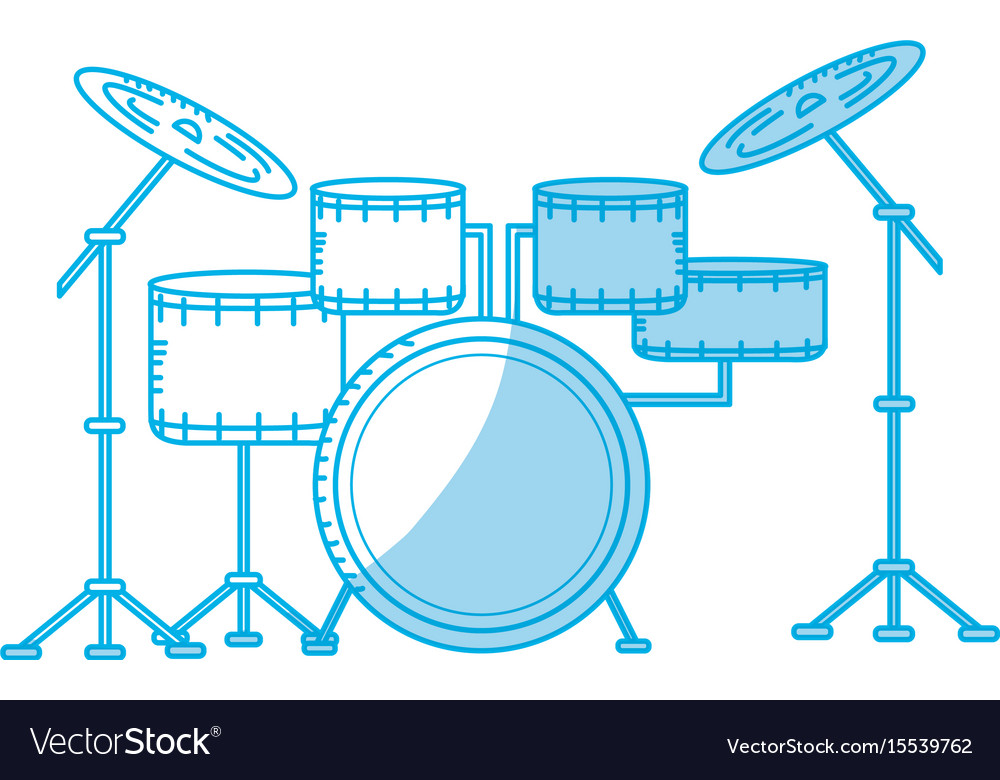 Silhouette drums musical instrument to play music