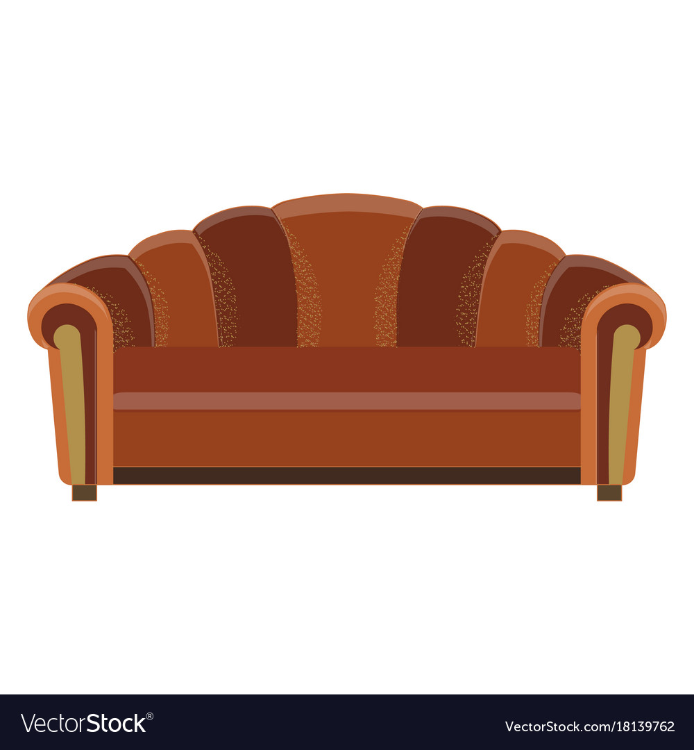 Sofa icon room color design flat furniture