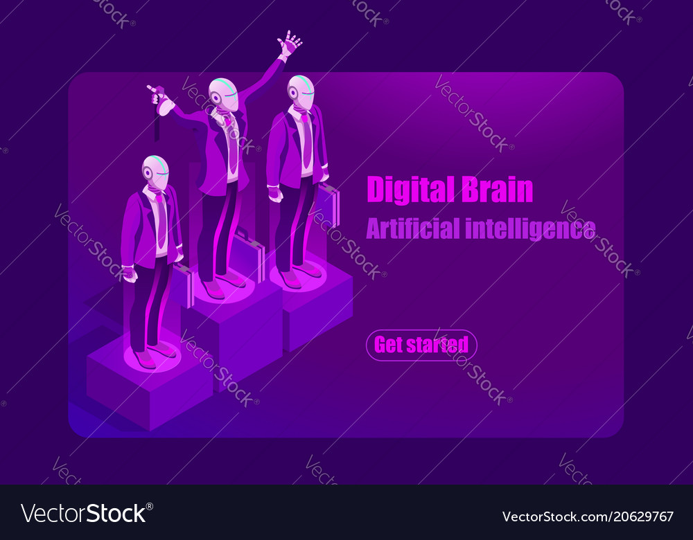 Artificial intelligence template vector image