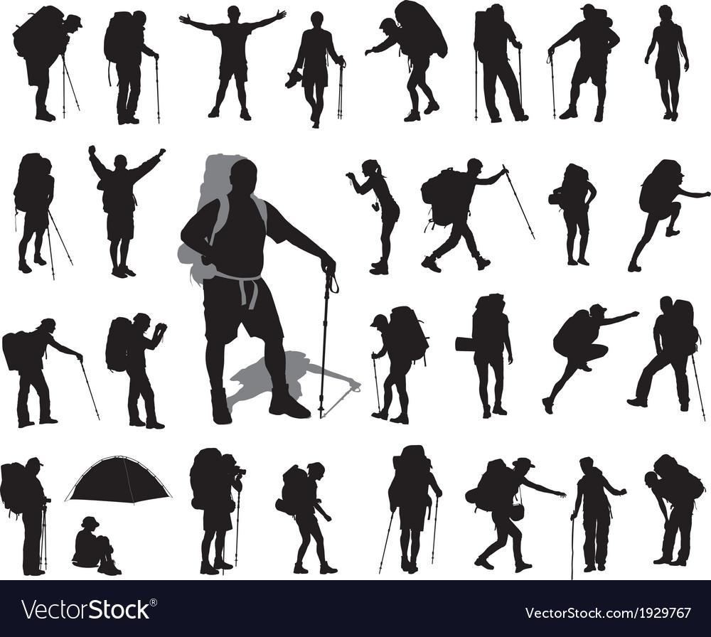 Backpacker set vector image