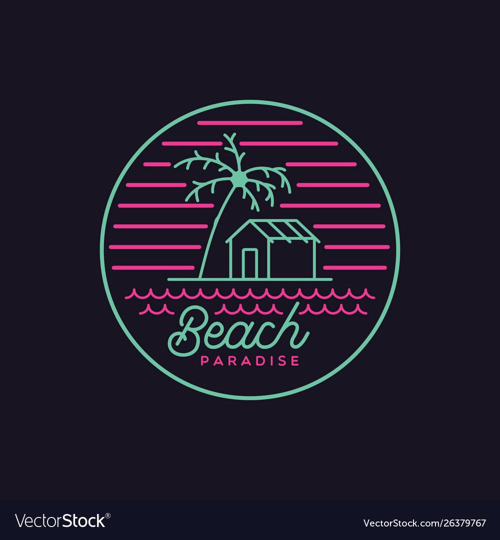 Beach paradise logo design