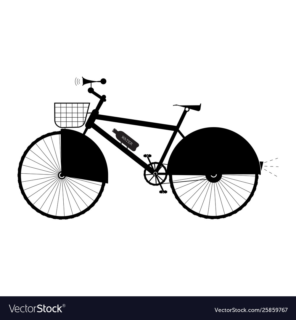 Bicycle with basket sound horn and protection on