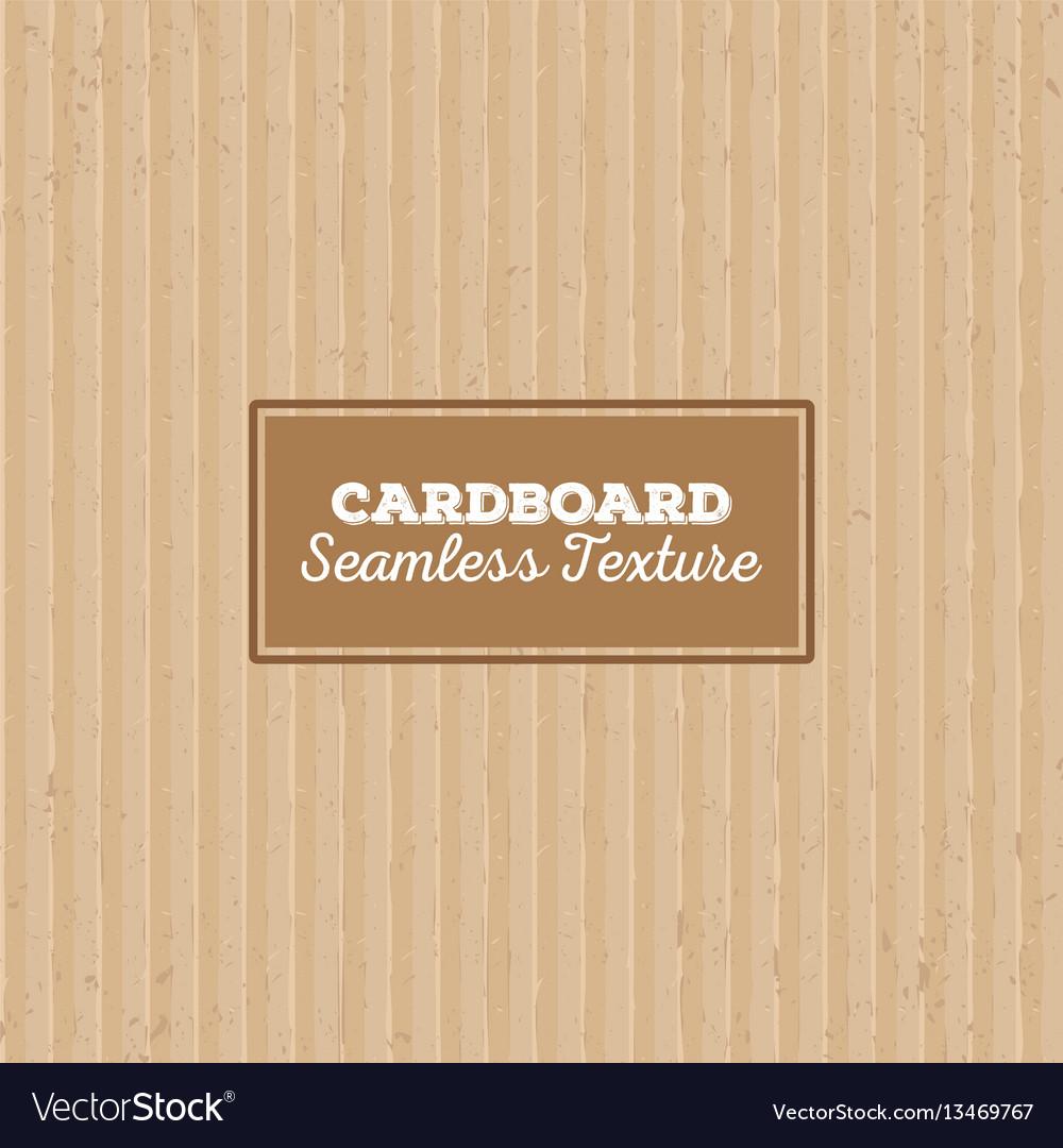 Cardboard texture seamless pattern vector image