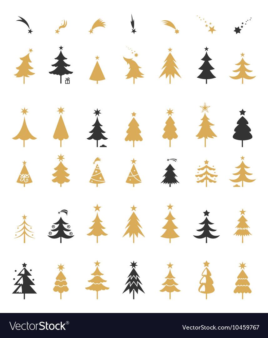 Christmas tree silhouette design