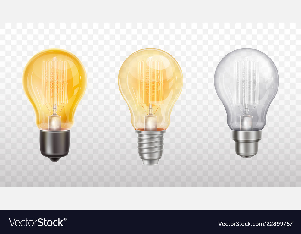Collection of decorative light bulbs lamps