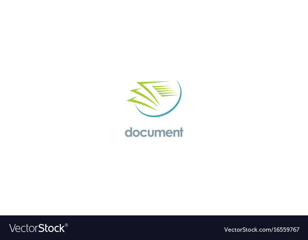 Document paper office logo