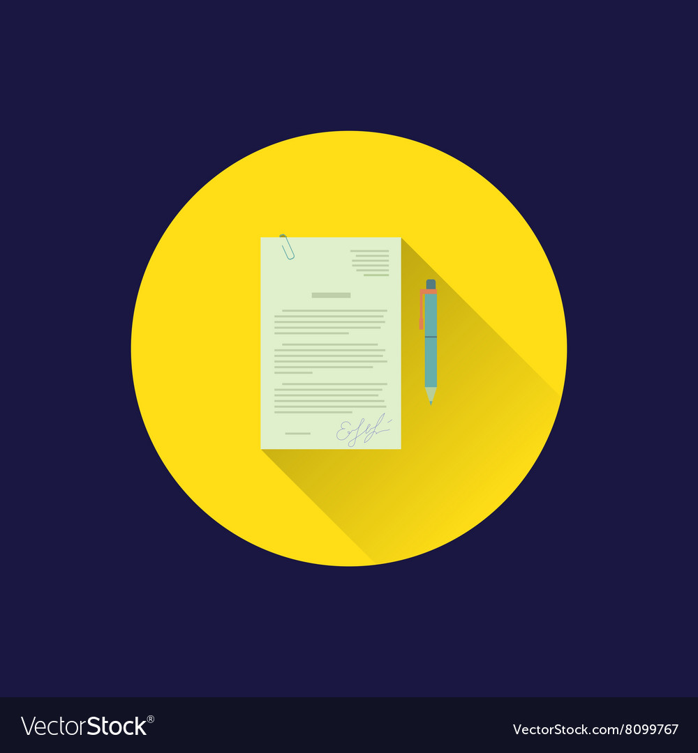 Flat document icon