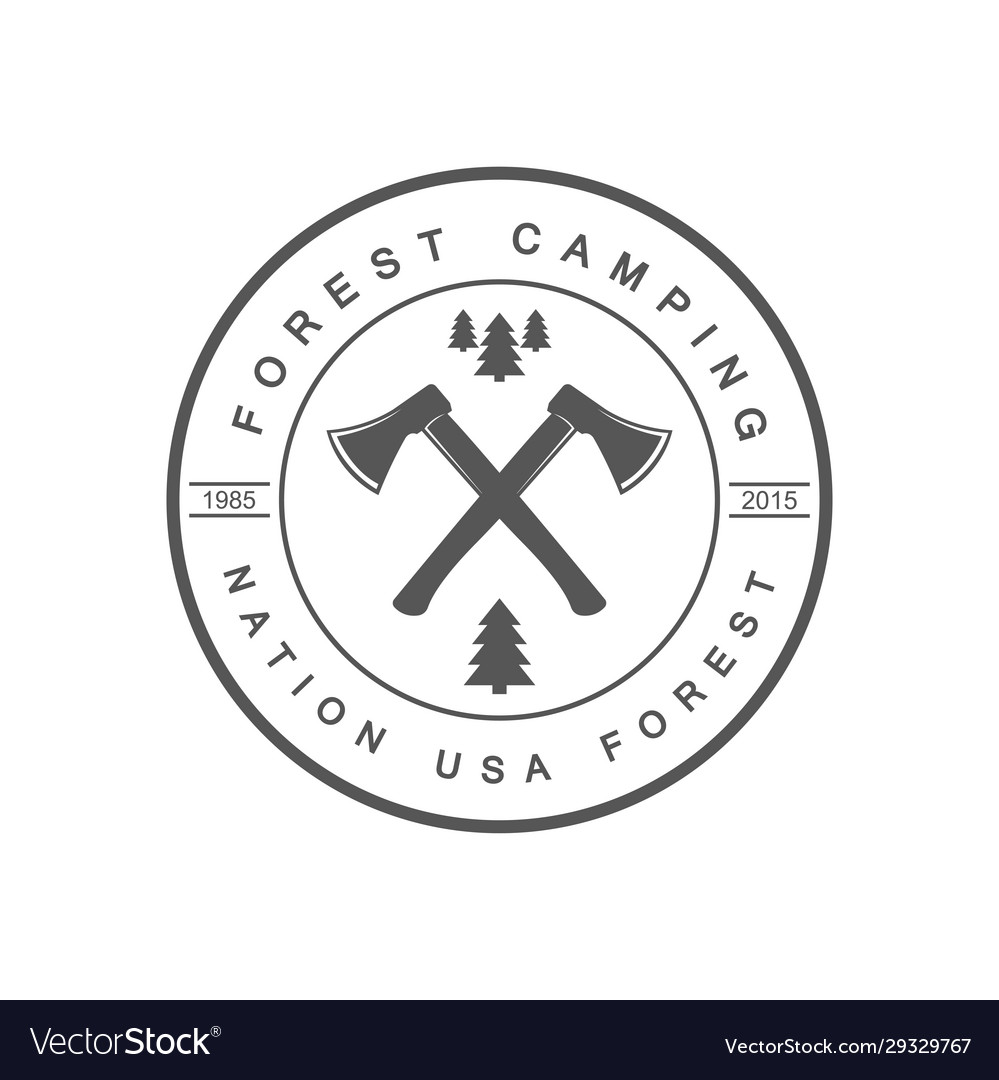 Forest camping logotype
