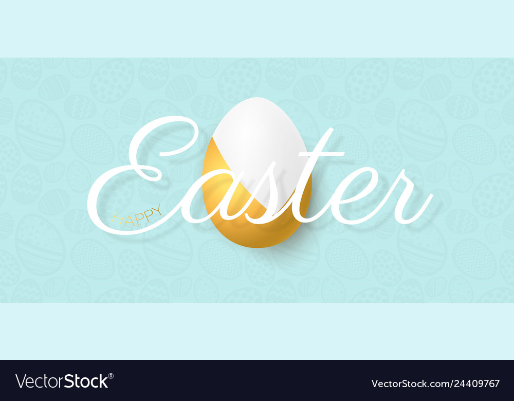 Happy easter lettering background