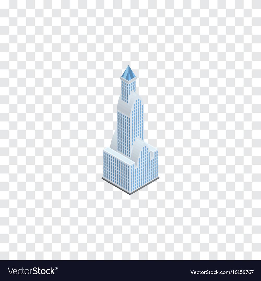 Isolated tower isometric cityscape element