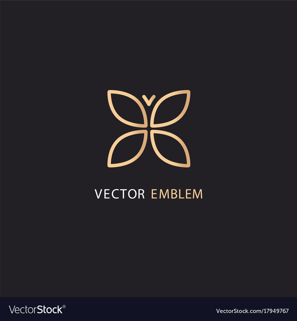 Logo Template In Gold Color