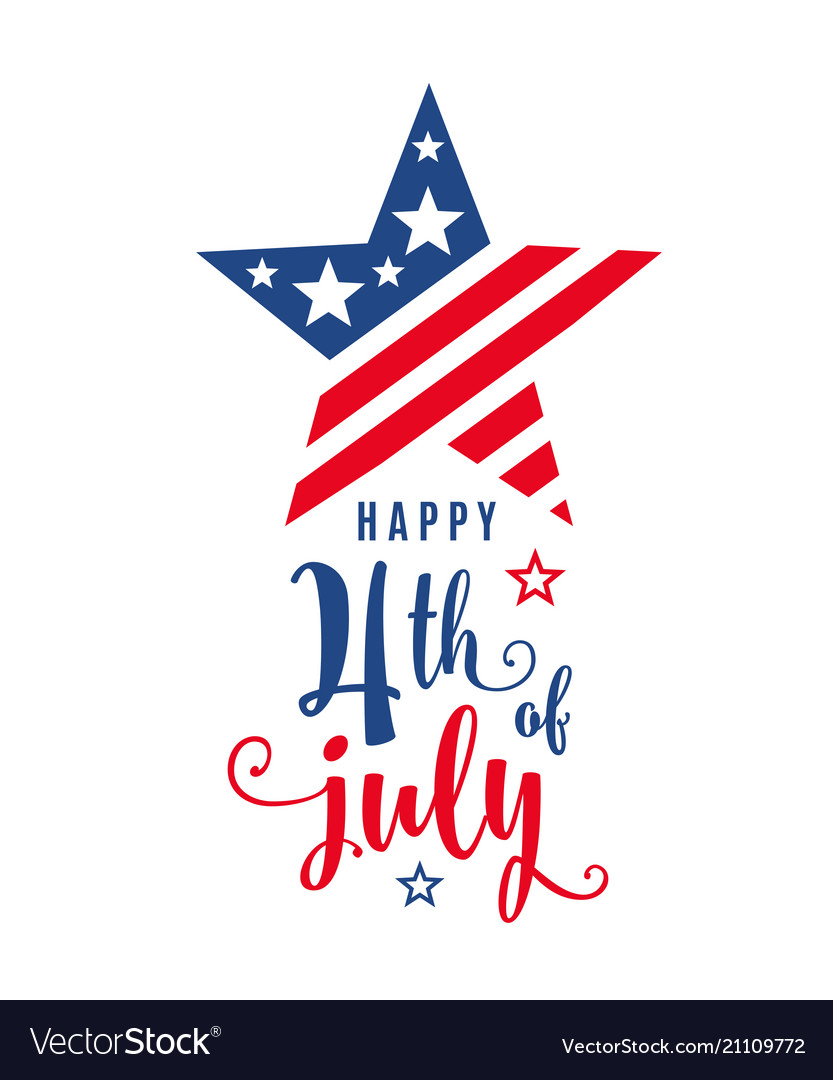 4th of july celebration holiday banner star shape