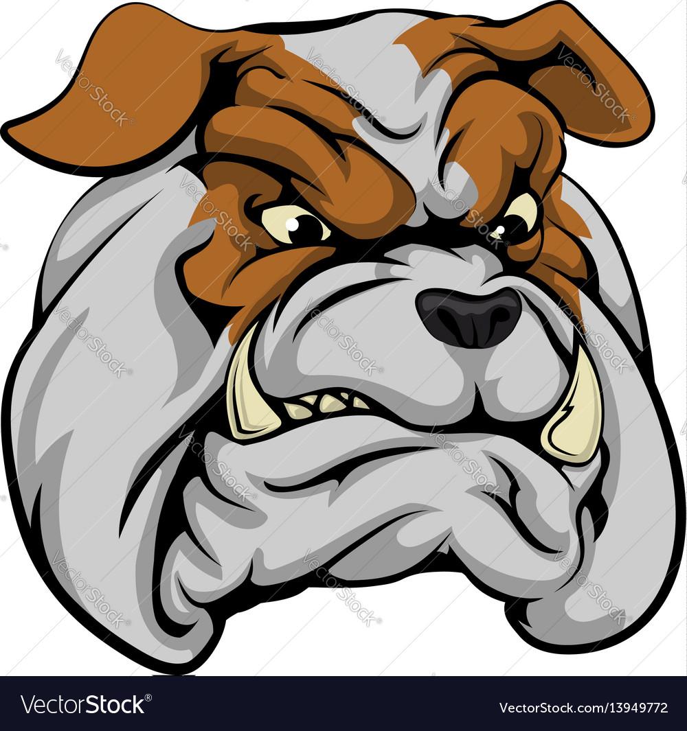 Bulldog mascot character vector image
