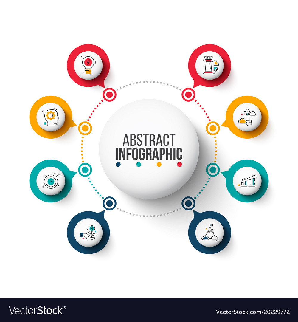 Circle elements for infographic