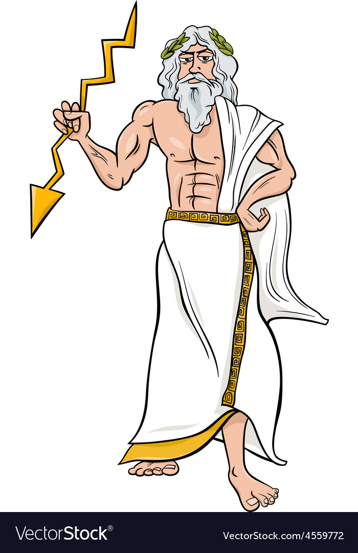 Greek god zeus cartoon vector image