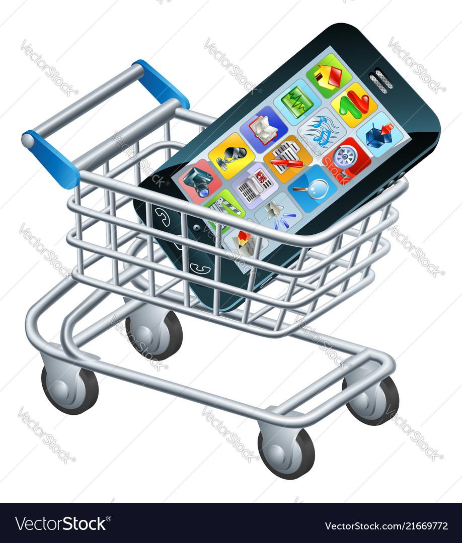 Mobile phone shopping cart