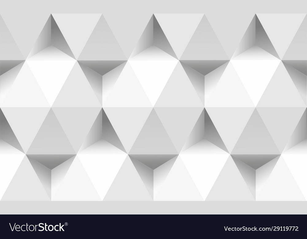 Paper triangles and hexagons seamless pattern 3d