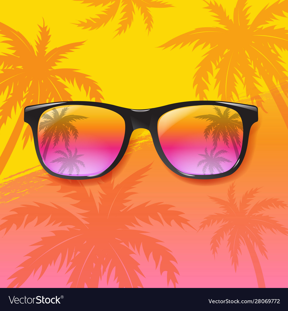 Summer sale special banner with sunglasses