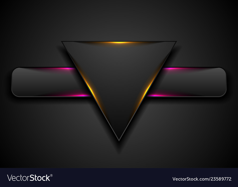 Triangle and rectangle with glowing light abstract